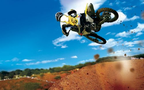 Motocross Extreme Sports  Canvas Framed Wall Art - 14
